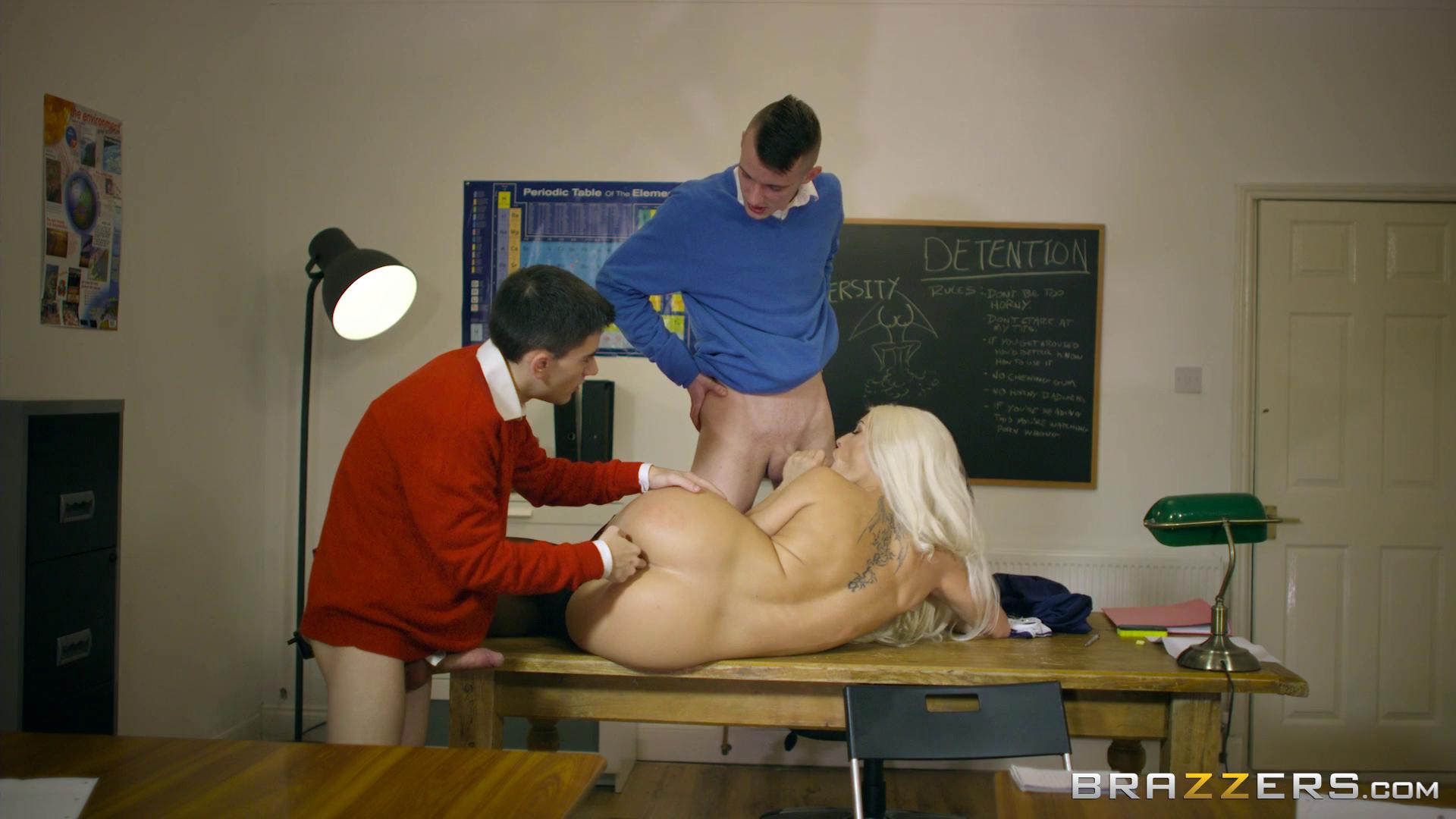 BigTitsAtSchool – Blanche Bradburry Teacher Tease