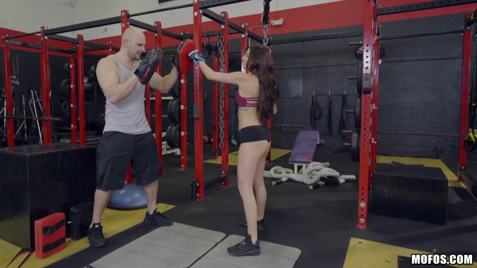 IKnowThatGirl – Aubrey Rose Doggystyle Fuck On Gym Bike